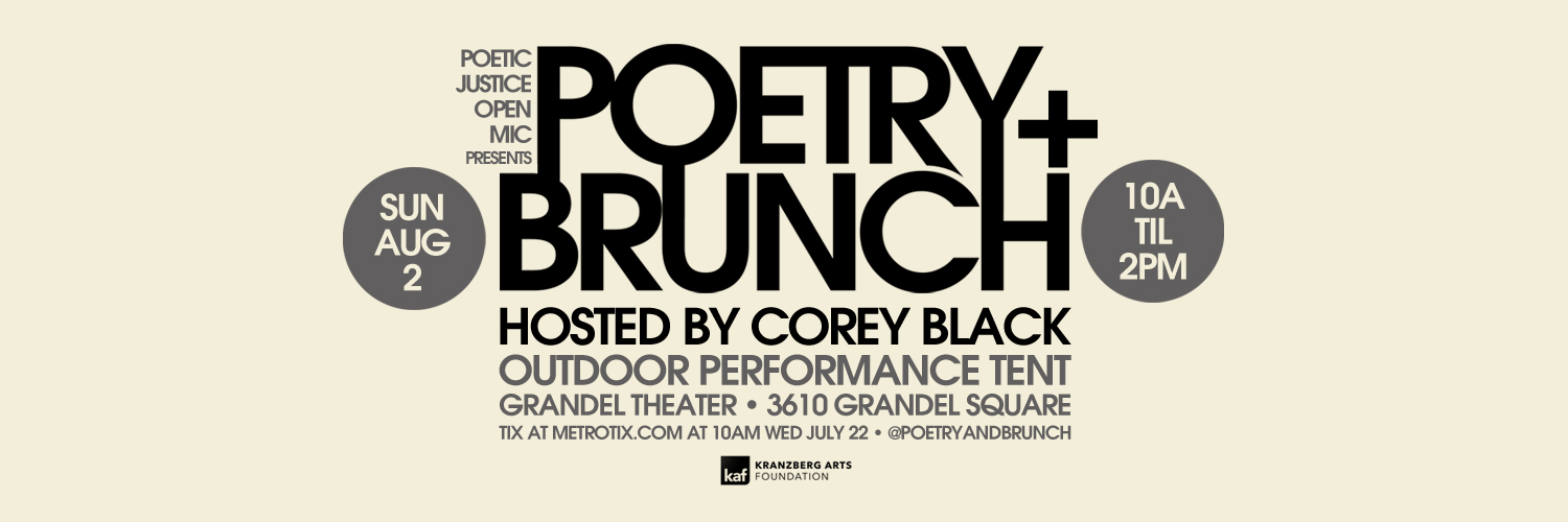 Poetic Justice Open Mic presents Poetry + Brunch Aug. 2, 2020