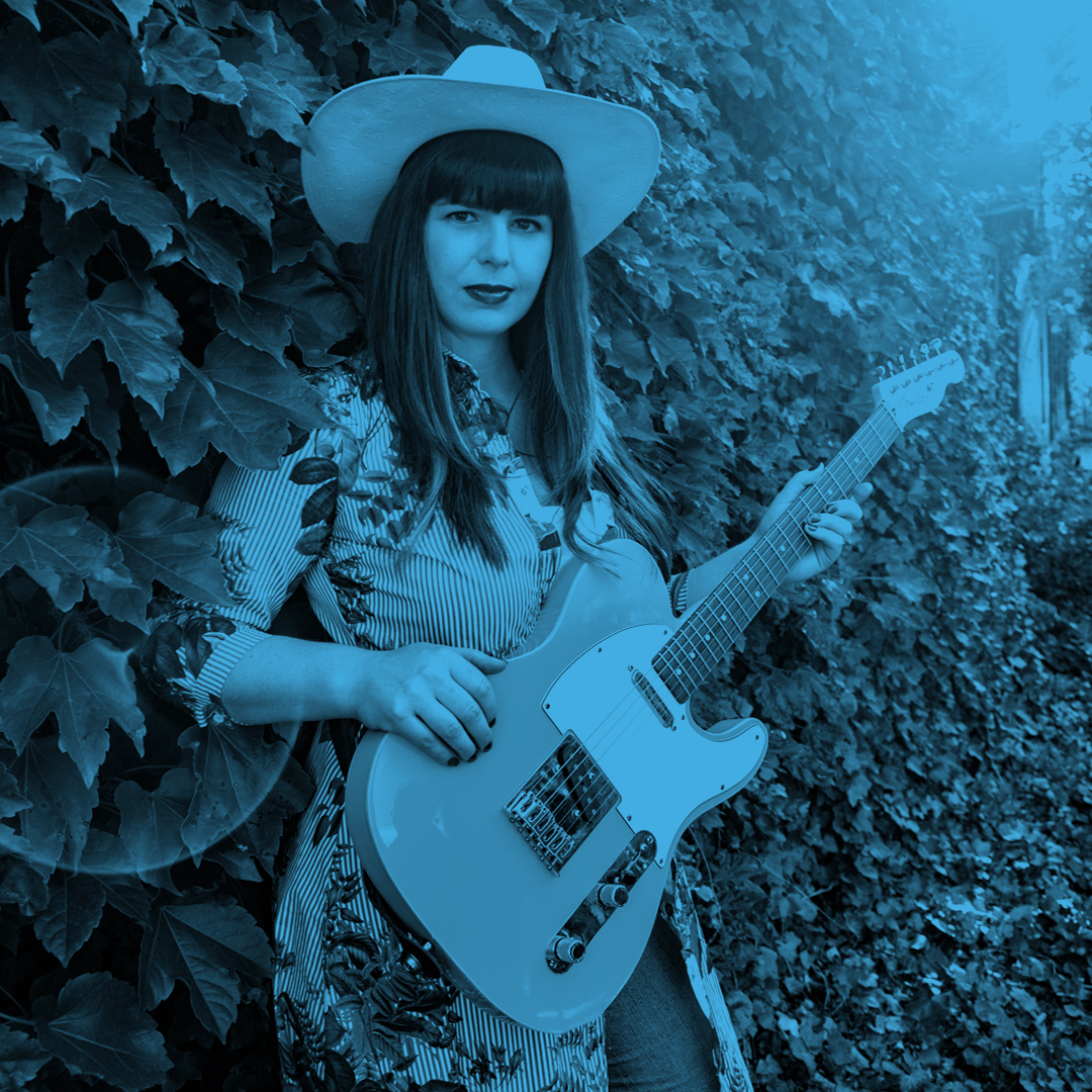 Beth Bombara performs at Blue Sky Brunch on Oct. 25, 2020, outside The Grandel.