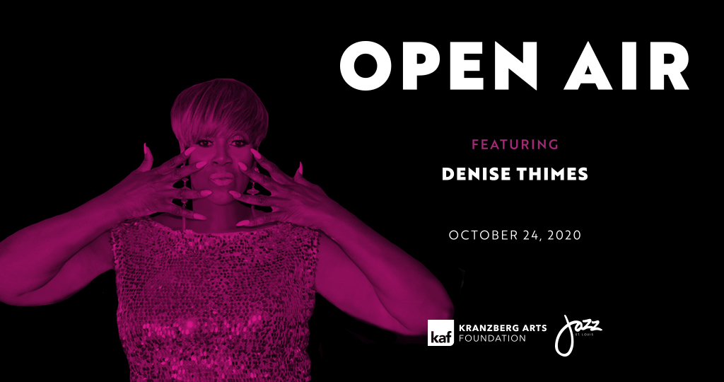 Denise Thimes performs during Open Air outside The Grandel on Oct. 24, 2020